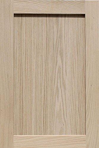 unfinished oak shaker cabinet door by kendor 24h x 16w