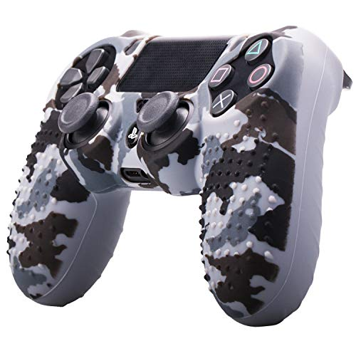 Price comparison product image ETbotu Camouflage Soft Silicone Case Skin Grip Cover for Playstation 4 PS4 Controller Gray