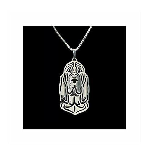 Bloodhound Dog Necklace Silver-Tone