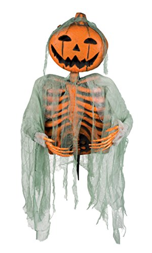 Boland 72028 Decoration Pumpkin Halloween Mr Pumpkin on Wand, Orange, 52 cm