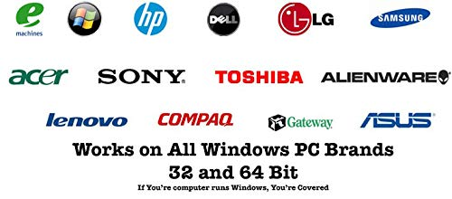 Compatible With Windows 10 Reinstall Recovery Repair Restore Boot Fix USB |  Professional & Home 32 & 64 Bit ALL Brands HP, Dell, etc  [Instructions &