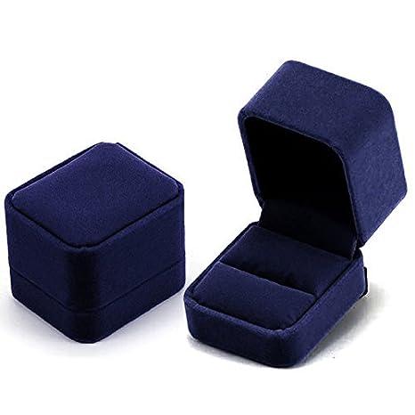 Vococal - Pelusa Pantalla Estuche Regalo Caja para Pendiente de Joyería,Azul