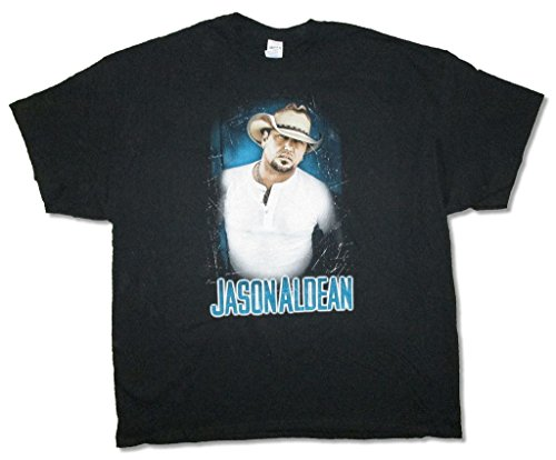 Jason Aldean Henley Photo Burn It Down Tour 2015 Black T Shirt (XL)