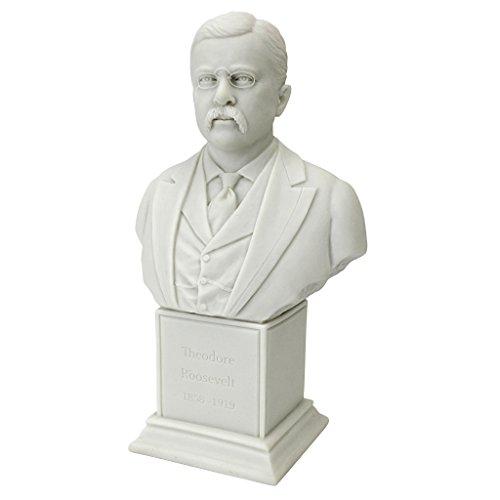 Design Toscano President, Jr. (1858-1919) Pres Theodore Roosevelt Statue (Roosevelt Bust)