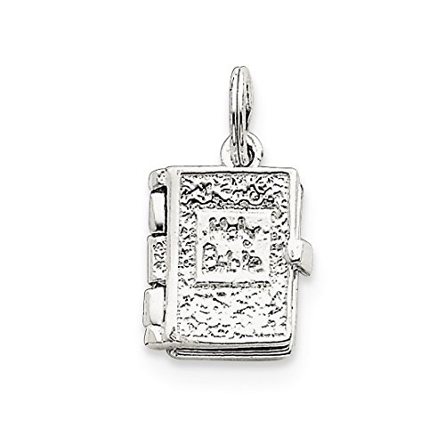 ICE CARATS 925 Sterling Silver Holy Bible Pendant Charm Necklace Religious Fine Jewelry Ideal Gifts For Women Gift Set From Heart