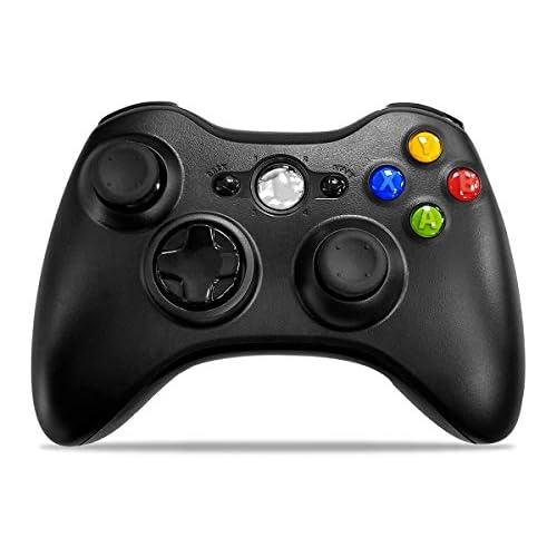Wireless Controller for Xbox 360, W&O 2.4GHZ Game Controller Gamepad Joystick for Xbox & Slim 360 PC Windows 7, 8, 10 (Black)