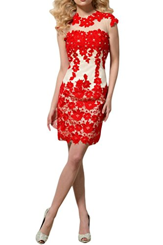 Stylish Bride Lace Short Wedding Flower Dresses Prom Red Red Angel Reception Dresses Idxnq8EdW