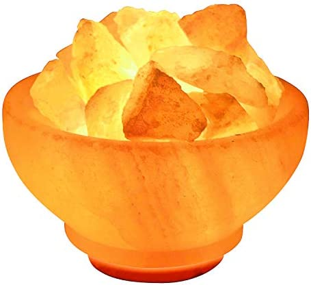 Crystal Allies: Natural Himalayan Salt Fire Bowl Lamp