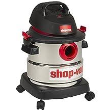 Shop-Vac 5989300 5-Gallon 4.5 Peak HP Stainless Steel Wet Dry Vacuum, 18.9L, Black