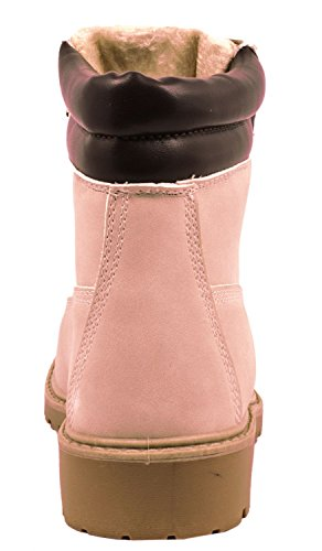 Pink Schnürer Boots Botines Hamburg Suela Mujer Worker Elara q1TRUS1