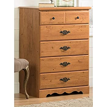 Image of Home and Kitchen 5-Drawer Lingerie Chest Rustic Antique Dresser Vertical Chest Storage Organizer Clothing Essentials Bedding Organizer Bedroom Accent Cabinet Child's Room Office Entryway Living Room Furniture