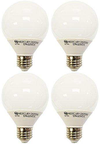 (4 Pack GE Energy Smart CFL 11 Watt Daylight Decorative G25 Light Bulbs (40W Incandescent Replacement) 9.1 Year Life (4 Pack))