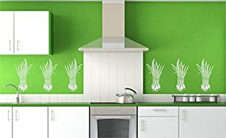Pequeño diseño de – (tamaño 16,5 x 30,5 cm) reutilizable de pared plantillas para pintar – mejor calidad verduras cocina diseño de Ideas – uso en paredes, suelos, tejidos, cristal, madera, terracota,