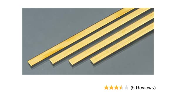 4 pc K/&S Precision Metals 9727 Brass Strip Made in USA 0.064 Thickness x 1//4 Width x 36 Length