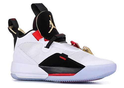 Jordan Men's Air XXXIII Basketball Shoes (11, Blue/Red)