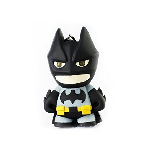 Mkring Batman Keychain with Flashlight Keychain Pendant - Mini Led Keychain Flashlight - Keychain Accessories Light and Sound Effect