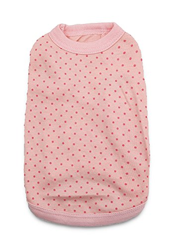 DroolingDog Pet Dog T Shirt Pink Dog Shirts Puppy Plain Blank Clothes for Small Dogs, XS