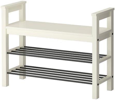 Ikea HEMNES - Banco con almacenaje del Zapato, Blanco - 85x32 cm: Amazon.es: Hogar