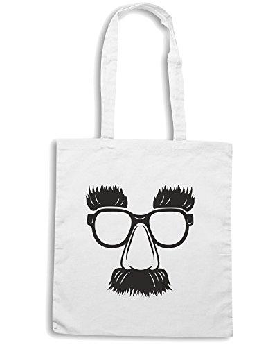 T-Shirtshock - Bolsa para la compra FUN0206 08 15 2013 Groucho Glasses T SHIRT det Blanco