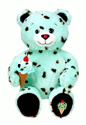 2010 Retired Build A Bear Workshop Mint Chocolate Chip Ice Cream Cone Baskin Robbins Unstuffed Teddy Plush Toy Animal