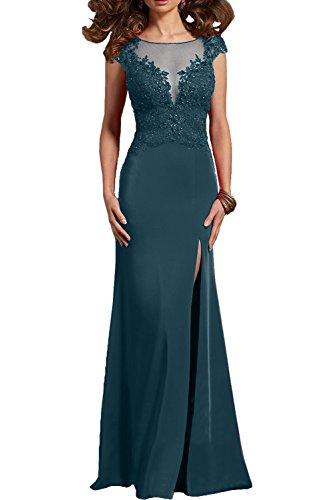 Braut Blau Tinte La Damen mia Abschlussballkleider Festlichkleider Etuikleider Formal Spitze Lang Sexy Abendkleider Ballkleider 1w5qwA