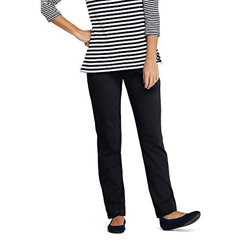 Lands' End Women's Petite Sport Knit Elastic Waist Pants High Rise, M, ()