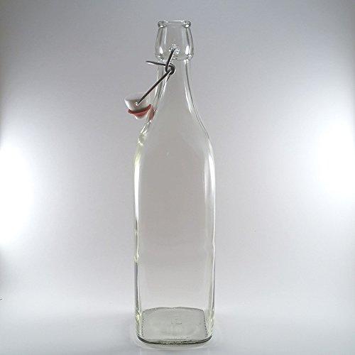 1L Bormioli Rocco (32 Oz) Wholesale Priced 20 Piece Master Carton Square Glass Bottle by Bormioli Rocco (Image #3)