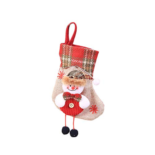 (Christmas Stocking Mini Sock Santa Claus Candy Gift Bag Xmas Tree Hanging Decor (C))