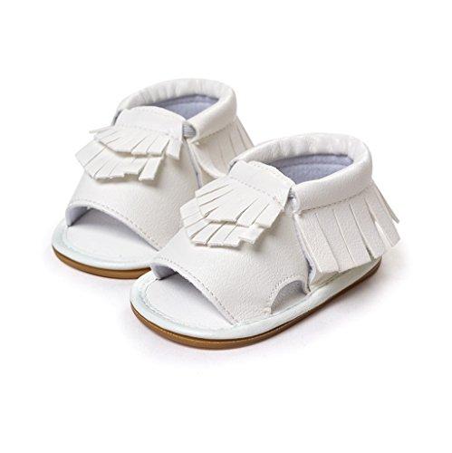 Bebé Prewalker Zapatos Auxma Zapatos del verano de la primavera de los niños de los bebés Sandalias de Moda Para 3-18 Mes Blanco