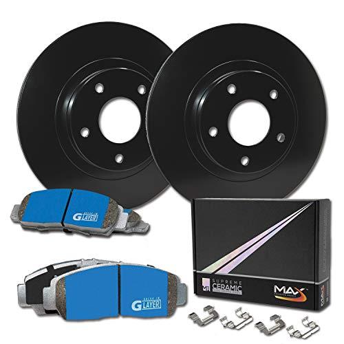 Max Brakes Rear Supreme Brake Kit [ E-Coated OE Rotors + Ceramic Pads ] KM162402 | Fits: 2000 00 2001 01 Audi A6 Quattro w/255mm Rear Rotors; Excl. FWD Models