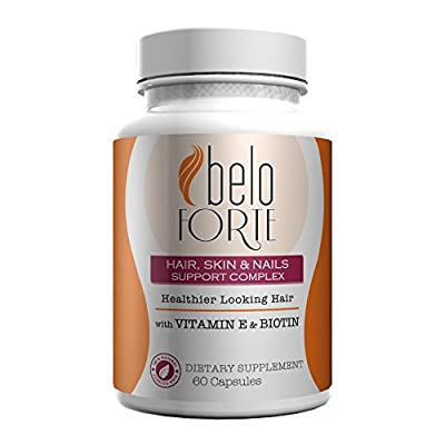 Beloforte Hair Skin & Nails Support Complex 60 capsules - Vitamins for Stronger Hair - Vitaminas para Cabellos más Fuertes