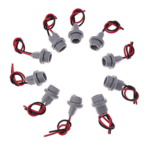 Shiwaki 10X T10 Light Female Socket Wire Harness Connector Extension: