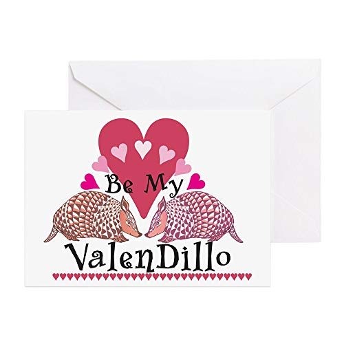 CafePress Armadillo Valentine's Day Greeting Card, Note Card, Birthday Card, Blank Inside Matte