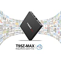 2018 Newest Android TV Boxes,T95Z MAX Android 7.1 TV Box with 3GB RAM 32GB ROM S912 Octa-Core Cortex-A53 Processor 5G WiFi Support Bluetooth/HDMI 2.0/H.265/4K2K Smart TV Boxes