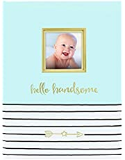 Pearhead Hello Handsome Baby Book, Blue