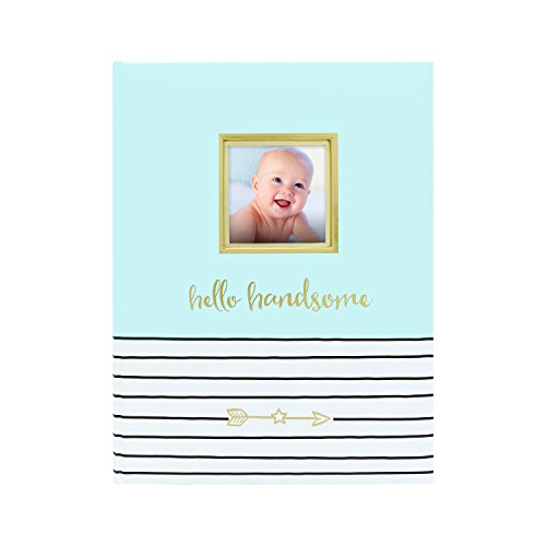 Pearhead Hello Handsome Baby Book, Blue 48 Page Book