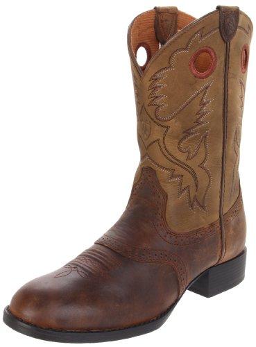 Kids' Heritage Stockman Western Boot (Toddler/Little Kid/Big Kid),Distressed Brown/Brown Bomber,11 M US Little Kid