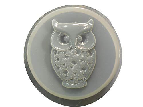 Round Owl Garden Stepping Stone Concrete or Plaster Mold 1334