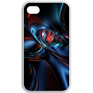 For Apple Iphone 5/5S Case Cover Customized Gifts Fors 3D Graphics colorfast 3D Abstract Black