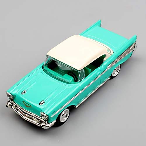 Greensun 1/43 Small Scale Brands Yat Ming 1957 Chevrolet Bel Air Convertible die Casting Model Replica car minicar Display Gift for Adult