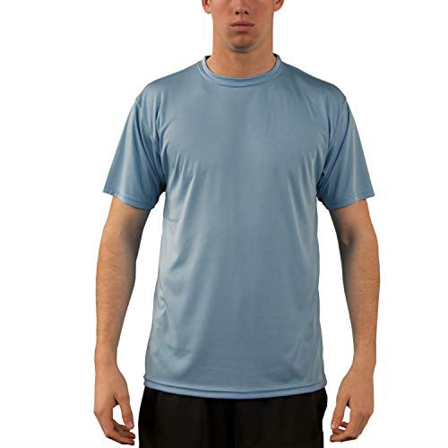 Vapor Apparel Men's UPF 50+ UV Sun Protection Performance Short Sleeve T-Shirt X-Large Hydro (Best Fishing Shirt Hot Weather)