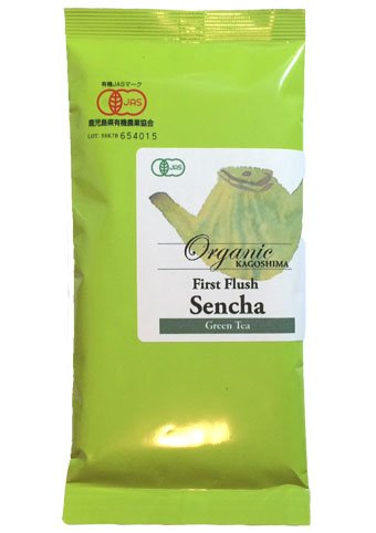 Organic Japanese Sencha loose green tea G - First Flush from Kagoshima 100g (3.52oz) x 1