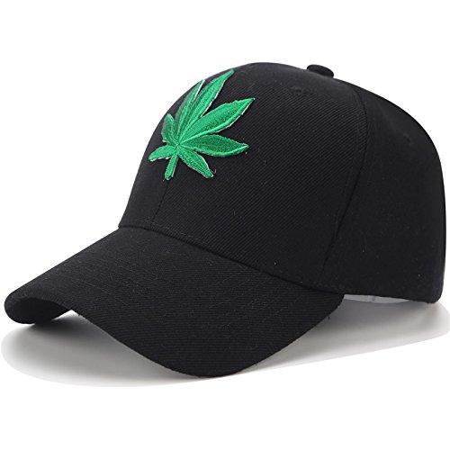 QETUOAD Stickerei Hanf Weed Dad Hüte Hip Hop Hysteresenkappe Street Schwarz Baseball Caps Für Frauen Männer Sommer Visor Trucker Hut Einstellbar B07D77963B Bekleidung Zart