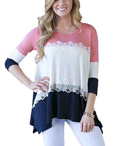 Pink 3/4 Sleeve Shirt - 7