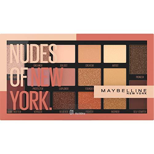 Maybelline Nudes Of New York 16 Pan Eyeshadow Palette Custom Designed Shadow for a Wide Range Of Diverse Skin Tones, 0.634 Oz