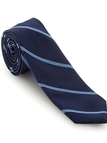 Robert Talbott Navy with Sky Blue Stripes Executive Best of Class Extra Long Tie ()