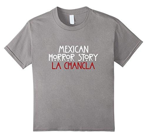 Kids La Chancla Mexican Horror Story Halloween T Shirt 6 Slate