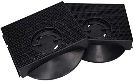 2 x Filtro de carbón activado para Whirlpool Bauknecht 484000008581 Wpro CHF303 Typ 303 campana extractora: Amazon.es: Grandes electrodomésticos