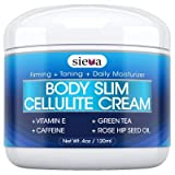 Sieva Cellulite Cream - Caffiene + Retinol + Vitamin E + Collagen. Proven Cellulite Treatment for Body Firming and toning. It Works - 100% Satisfaction Guaranteed …