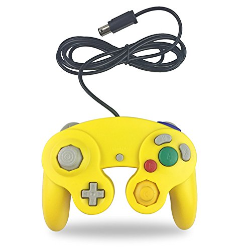 Crifeir The Wired Controller for Gamecube NGC Wii Video Game (Yellow)